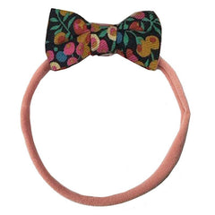 Pretty Wild Minnie Elastic with Lantana Bow - Tea Pea Home