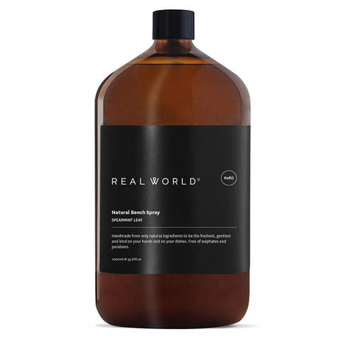 Real World NZ Bench Spray 1L Refill - Spearmint - Tea Pea Home