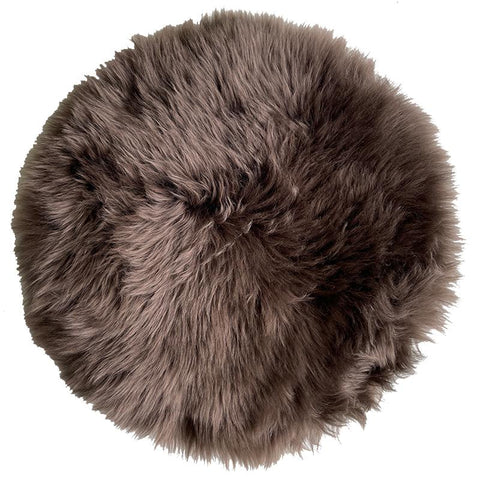 Sheepskin Circle Chair Pad - Hickory - Tea Pea Home