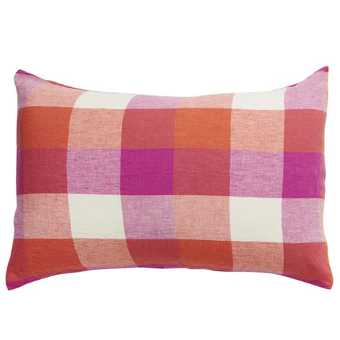 Society of Wanderers Pillowslip Set - Sherbet Check - Tea Pea Home