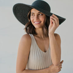 Sophie So Shady Extra Hat - Black - Tea Pea Home