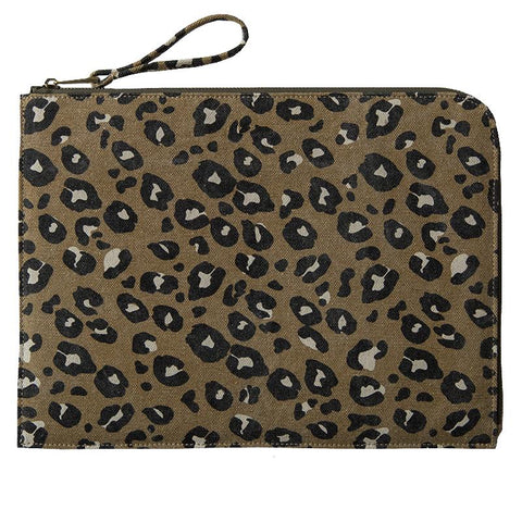 Sophie Tech Sleeve - Leopard Camel - Tea Pea Home