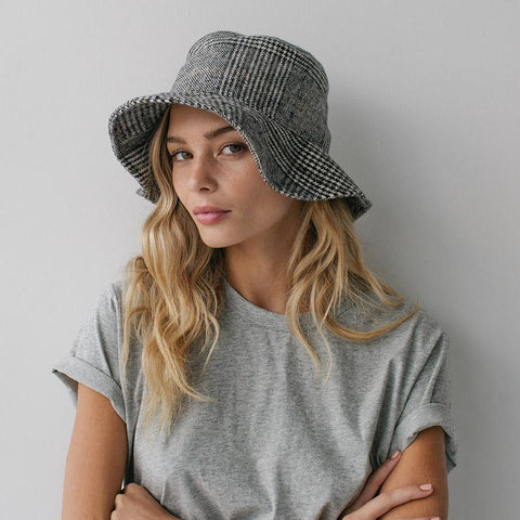 Sophie Wool Bucket Hat - Tweed - Tea Pea Home