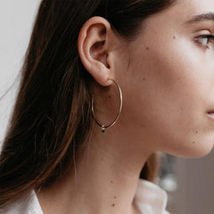Sophie Hoop Earrings - Mini Rock Black - Tea Pea Home