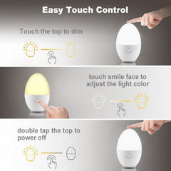 USB Rechargeable Egg Night Light