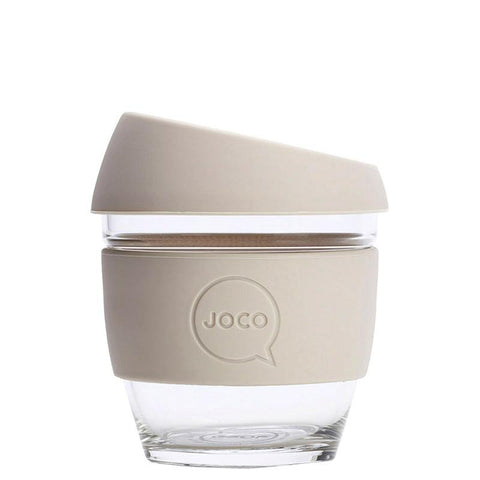 Joco Glass Travel Cup - Sandstone - Tea Pea