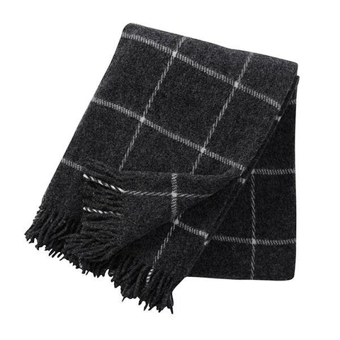Klippan Sweden Wool Blanket - Vinga Island Dark Grey
