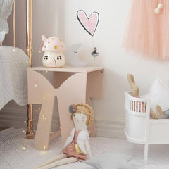 Little Belle Nightlight - Pink & Gold
