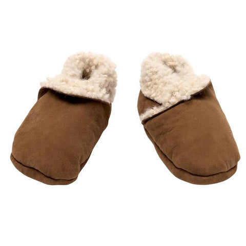 Nature Baby Lambskin Booties - Cinnamon - Tea Pea