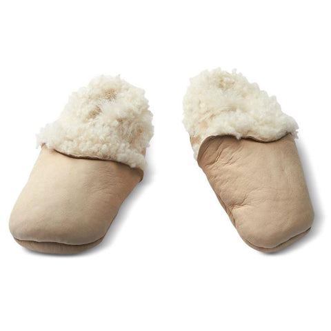 Nature Baby Lambskin Booties - Cream - Tea Pea
