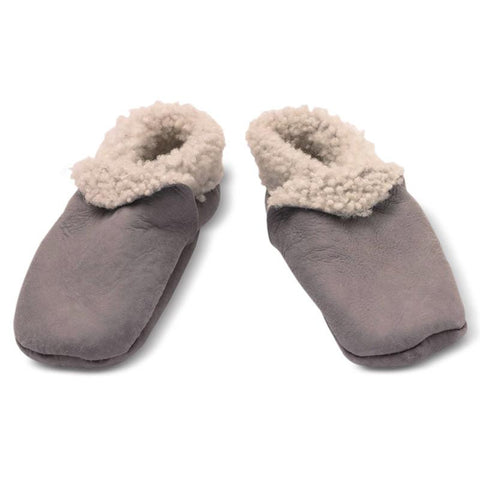 Nature Baby Lambskin Booties - Grey - Tea Pea