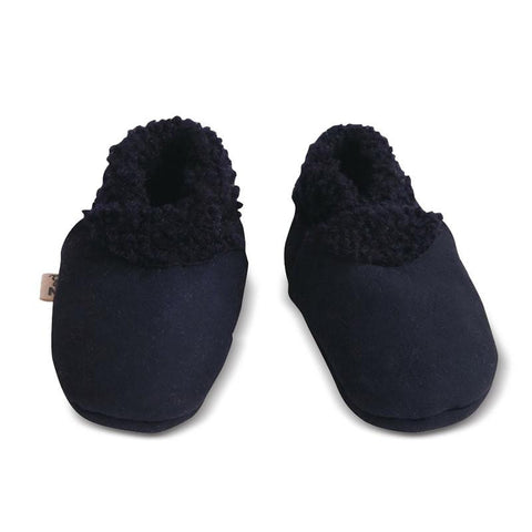 Nature Baby Lambskin Booties - Navy - Tea Pea