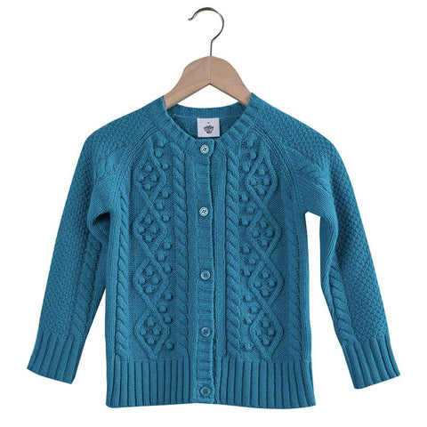 Pretty Wild Georgia Wool Cardigan - Peacock - Tea Pea