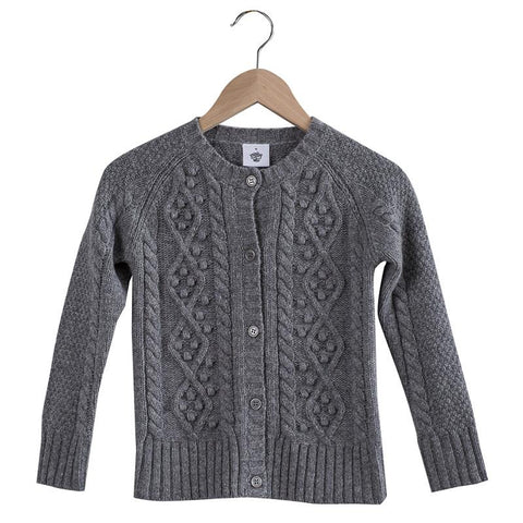 Pretty Wild Georgia Wool Cardigan - Silver - Tea Pea