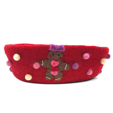 Pashom Nepal Felt Gingerbread Bowl - Tea Pea Home