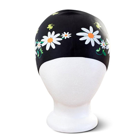 Poolbeanies Silicone Swim Cap - Daisy Chain in Night Garden - Tea Pea Home