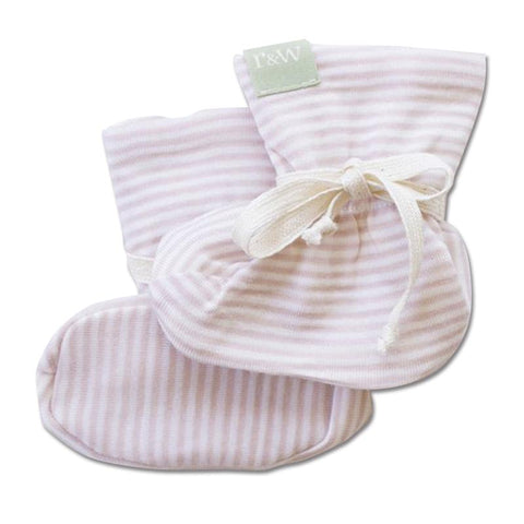 bd51e4bd5ea Roots   Wings NZ Organic Merino Booties - Rose Stripe – Tea Pea Home