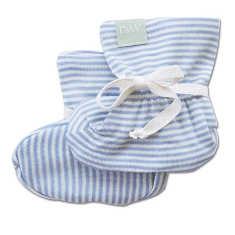 82cad812a8a Roots   Wings NZ Organic Merino Booties - North Sea Stripe – Tea Pea ...