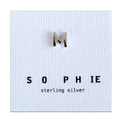 Sophie Earrings - Individual Letter Stud Sterling Silver - Tea Pea
