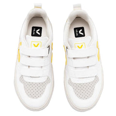 Veja Kids V-10 Velcro Sneakers - White & Tonic - Tea Pea Home