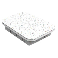 W&P New York Peak Everyday Ice Cube Tray - White Speckled - Tea Pea Home