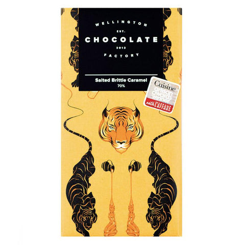 Wellington Chocolate Factory 85g Salted Brittle Caramel Bar - Tea Pea Home