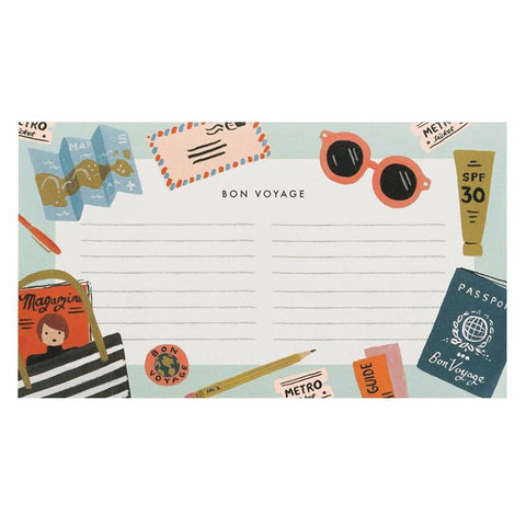 Rifle Paper US Notepad - Bon Voyage - Tea Pea Home
