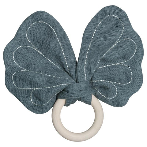 Fabelab Denmark Butterfly Teether - Blue Spruce - Tea Pea Home