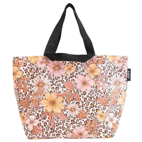 Kollab Poly Shopper Tote - Leopard Floral - Tea Pea Home