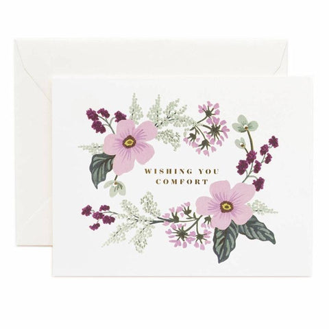 Rifle Paper US Card - Wishing You Comfort Bouquet - Tea Pea