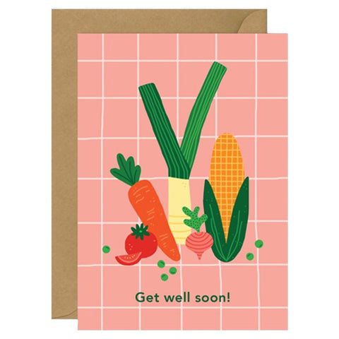 Made by Mimi Card - Get Well Soon Veges - Tea Pea Home