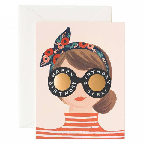 Rifle Paper US Card - Birthday Girl - Tea Pea