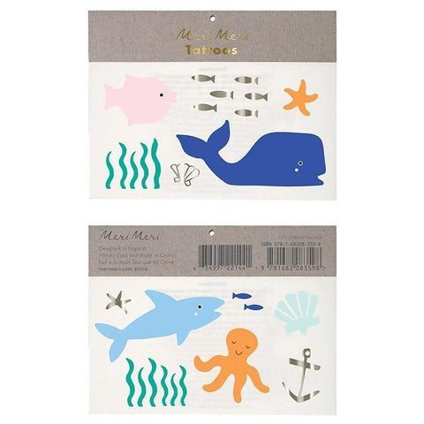 Meri Meri UK Temporary Tattoo Set - Under the Sea - Tea Pea Home