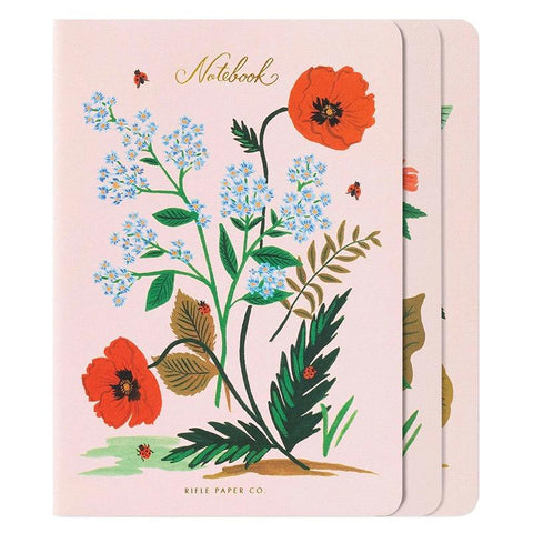 Rifle Paper US Stitched Notebook Set -  Botanical - Tea Pea Home