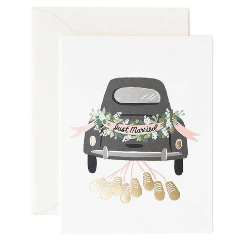 Rifle Paper US Card - Just Married Getaway