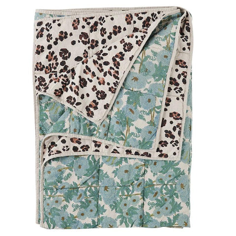 Society of Wanderers Quilt - Joan Floral  & Leopard - Tea Pea Home