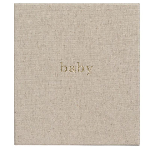 Write to Me Baby Journal - Your First Five Years Oatmeal - Tea Pea Home