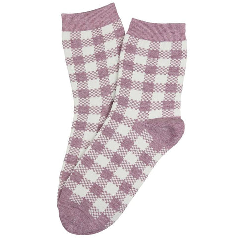 Gingham Check Socks - Tea Pea Home