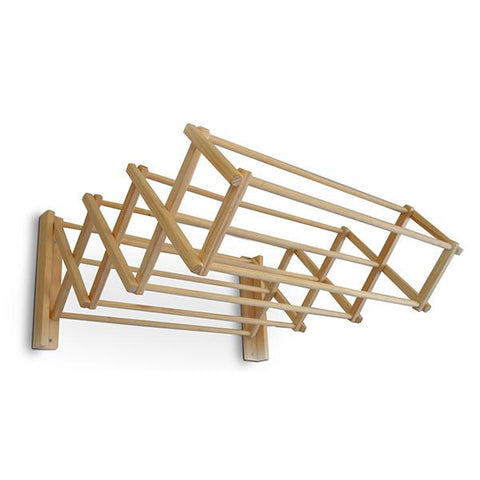 Wooden Wall Mounted Drying Rack Tea Pea Home