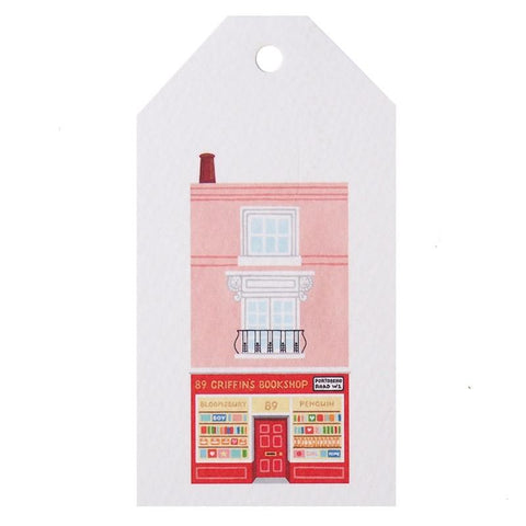 Tea Pea Home Gift Tag - Portobello Road Bookshop - Tea Pea Home