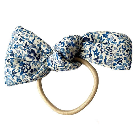 Pretty Wild Barbara Bow Hair Tie - Blueberry - Tea Pea Home