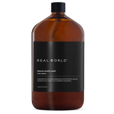 Real World NZ Laundry Liquid 1L - Star Jasmine - Tea Pea Home