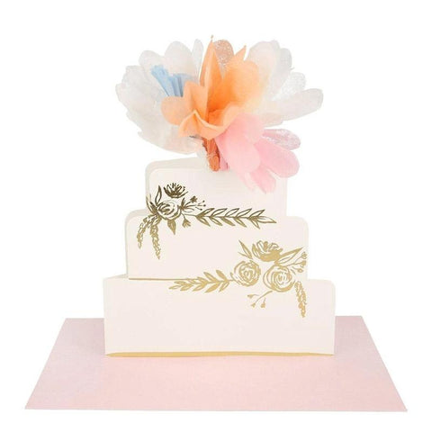 Meri Meri UK Card - Stand Up Floral Cake - Tea Pea Home