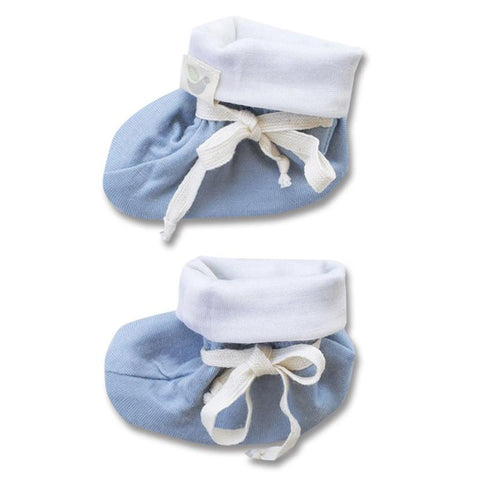 Roots & Wings NZ Organic Merino Booties - North Sea Blue - Tea Pea Home