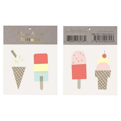 Meri Meri UK Temporary Tattoo Set - Ice Lolly