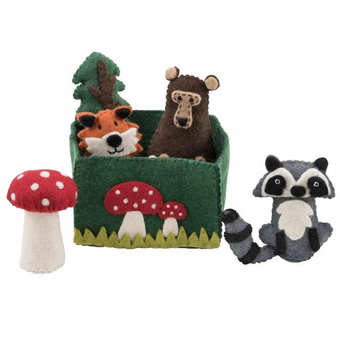 Pashom Nepal Felt Playset - Woodlands - Tea Pea