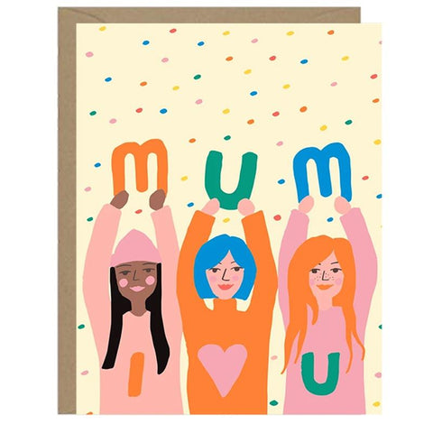Emma Cooter Draws Card - Mum I Love You - Tea Pea Home