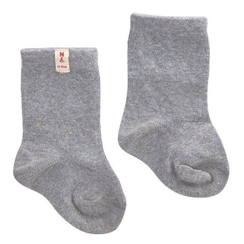 Nature Baby Organic Cotton Socks - Grey Marle - Tea Pea Home