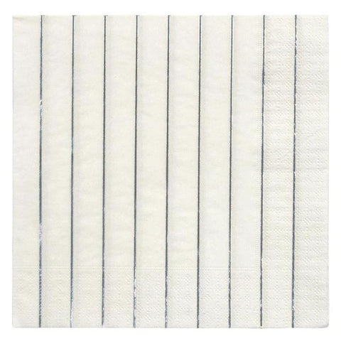 Meri Meri UK Napkins - Silver Stripe Large - Tea Pea Home