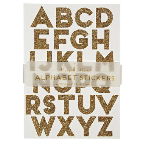 Meri Meri UK Stickers - Gold Alphabet